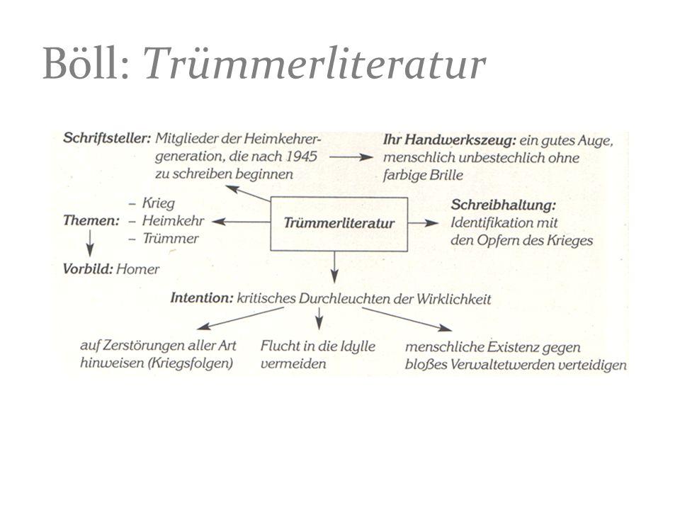 Böll: Trümmerliteratur