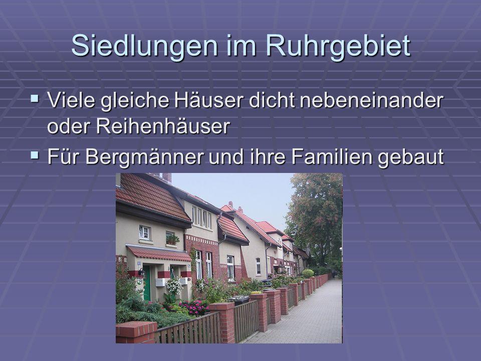 Siedlungen im Ruhrgebiet