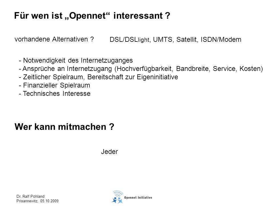 """Für wen ist """"Opennet interessant"""