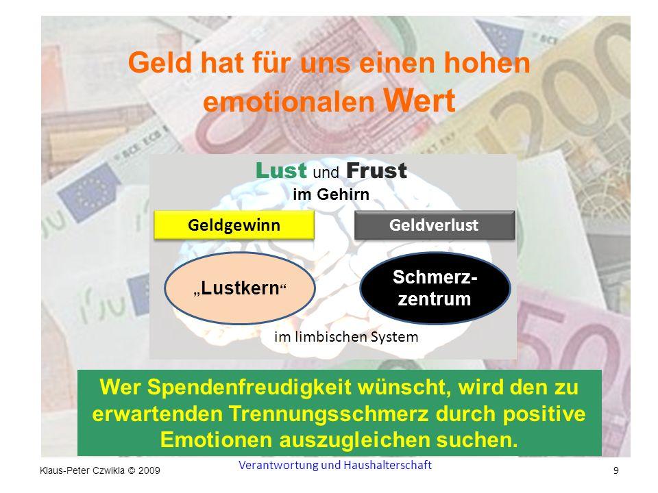 Geld hat für uns einen hohen emotionalen Wert