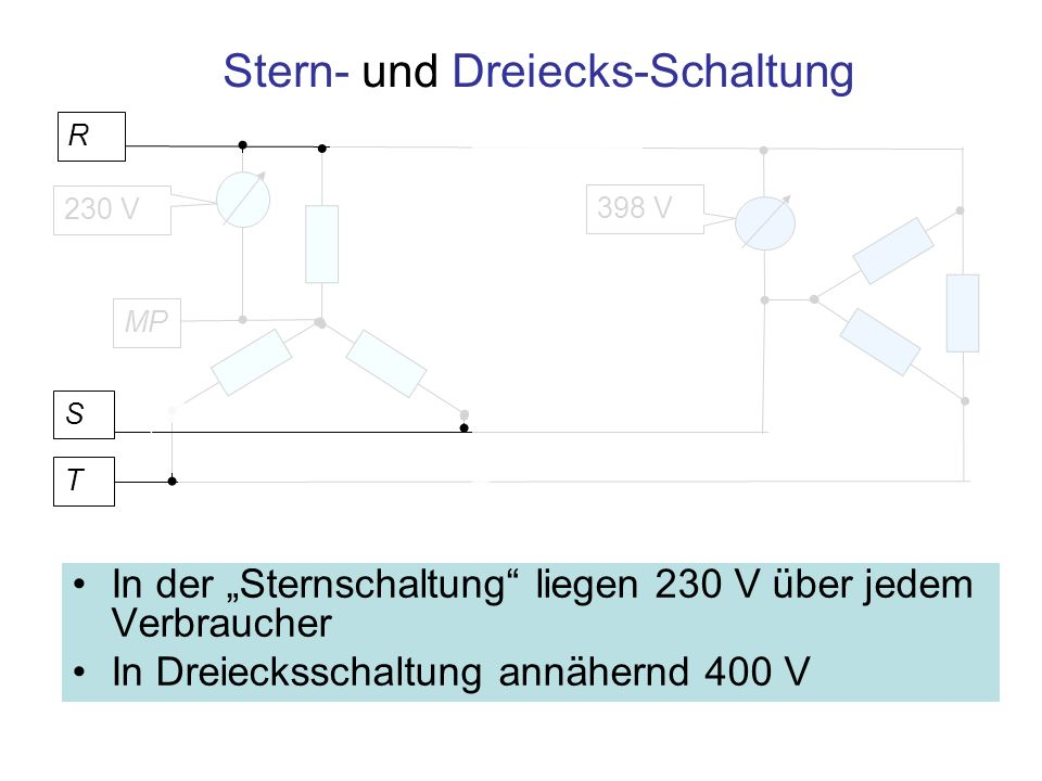 Stern- und Dreiecks-Schaltung