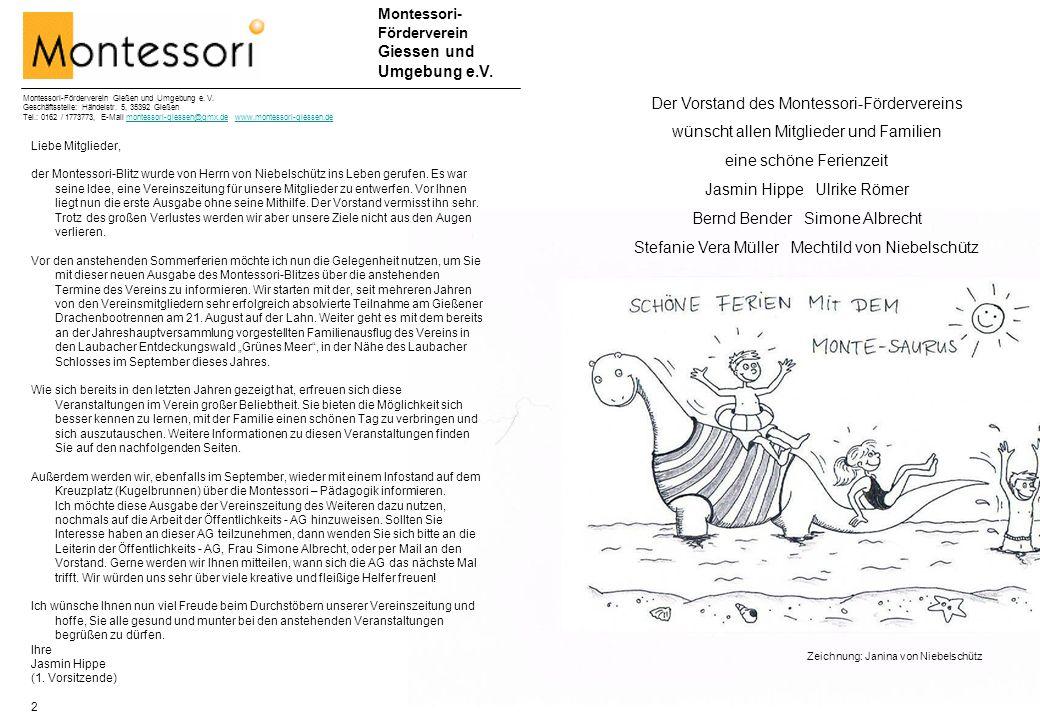 Der Vorstand des Montessori-Fördervereins