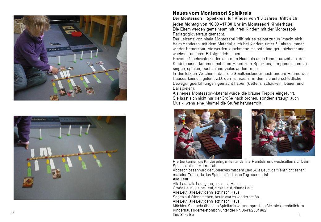 Neues vom Montessori Spielkreis