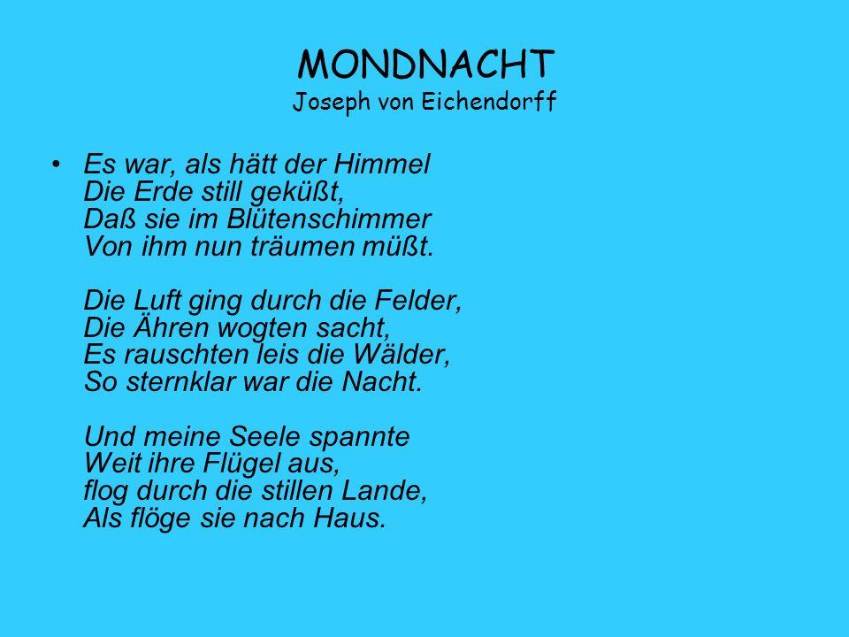 MONDNACHT Joseph von Eichendorff