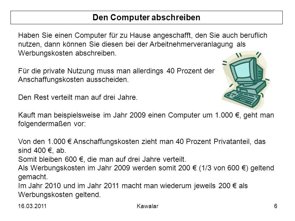 Den Computer abschreiben
