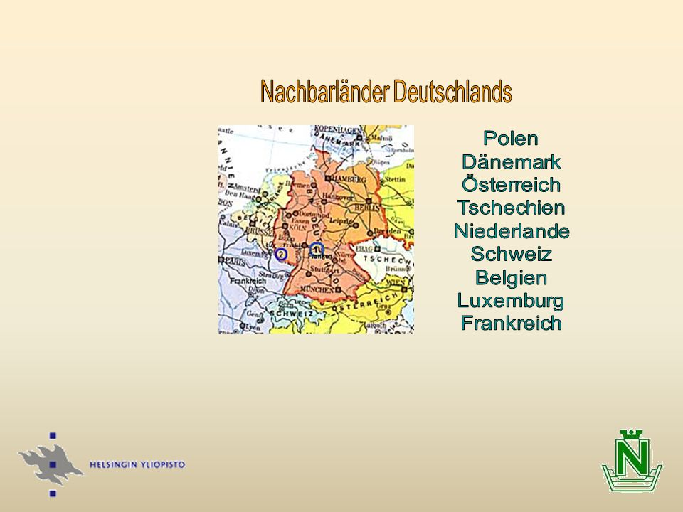 Nachbarländer Deutschlands