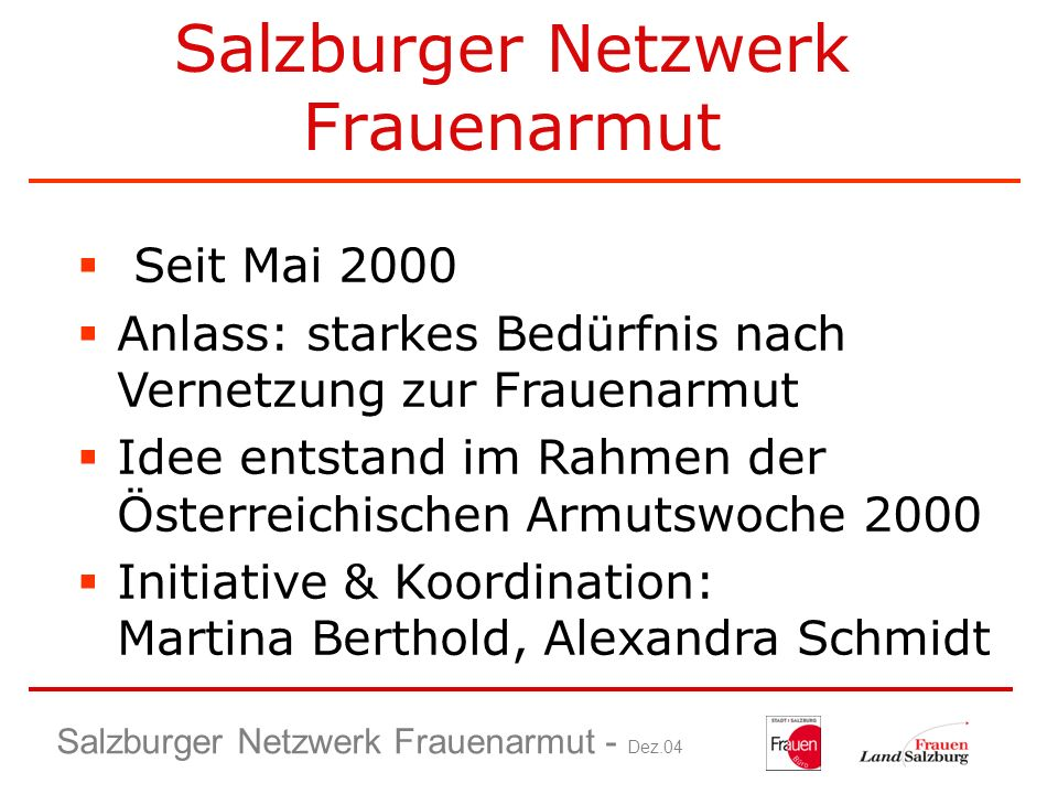 Salzburger Netzwerk Frauenarmut
