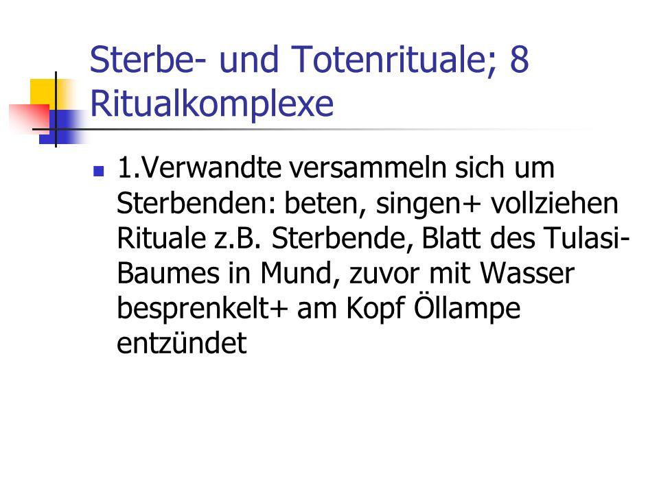 Sterbe- und Totenrituale; 8 Ritualkomplexe