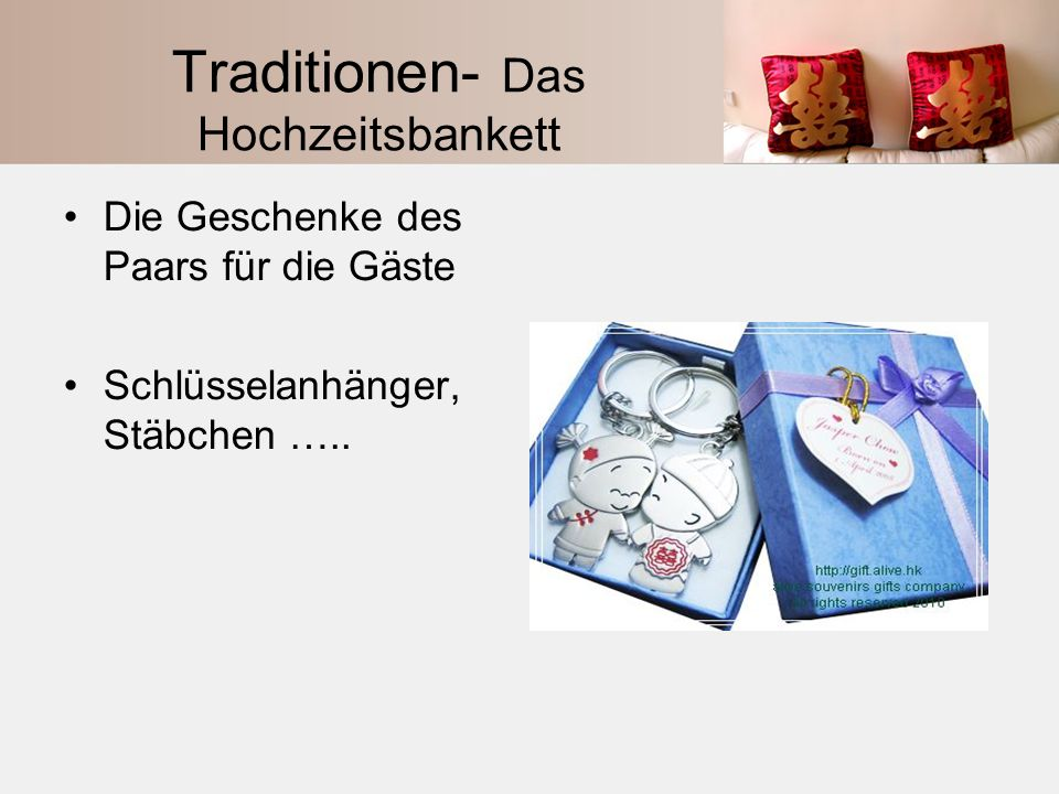 Traditionen- Das Hochzeitsbankett