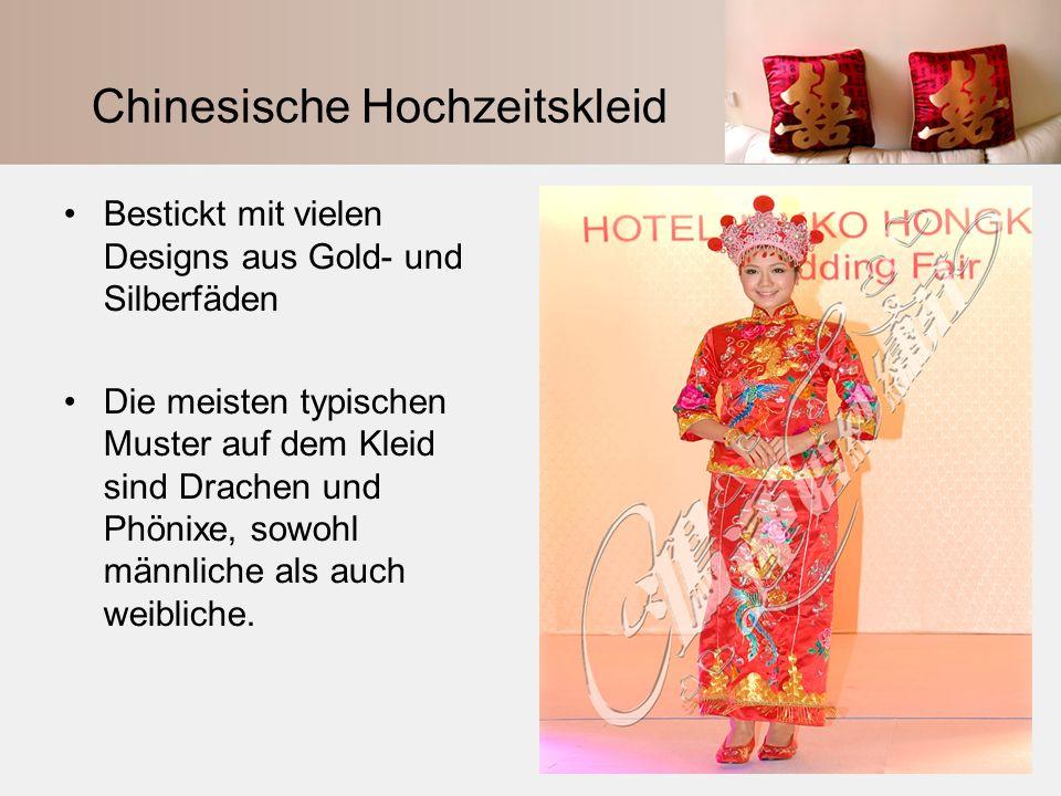 Chinesische Hochzeitskleid