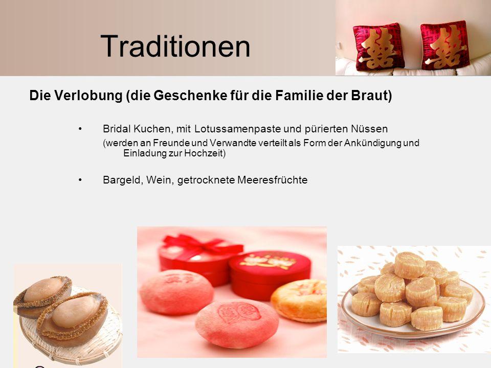 Traditionen Die Verlobung (die Geschenke für die Familie der Braut)