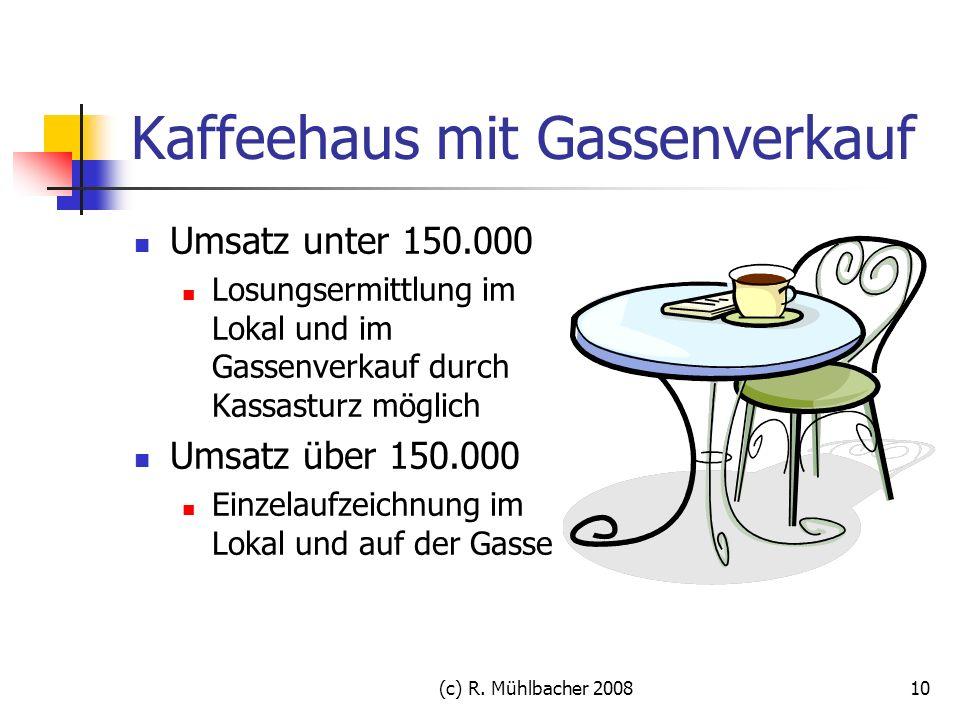 Kaffeehaus mit Gassenverkauf