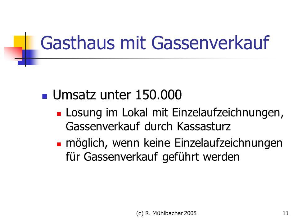 Gasthaus mit Gassenverkauf