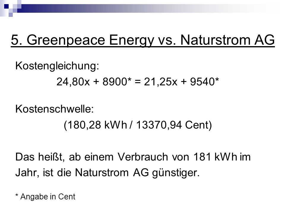 5. Greenpeace Energy vs. Naturstrom AG