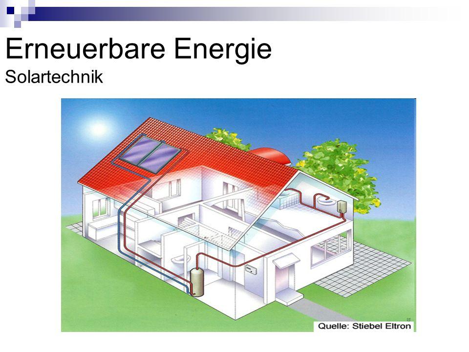 Erneuerbare Energie Solartechnik
