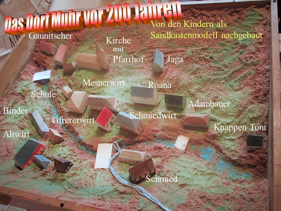 Das Dorf Muhr vor 200 Jahren