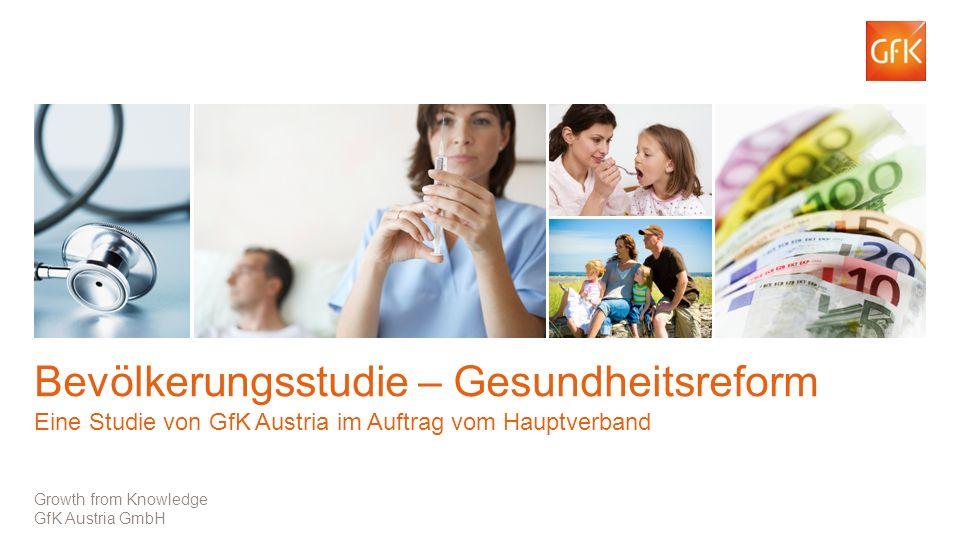 Bevölkerungsstudie – Gesundheitsreform Eine Studie von GfK Austria im Auftrag vom Hauptverband