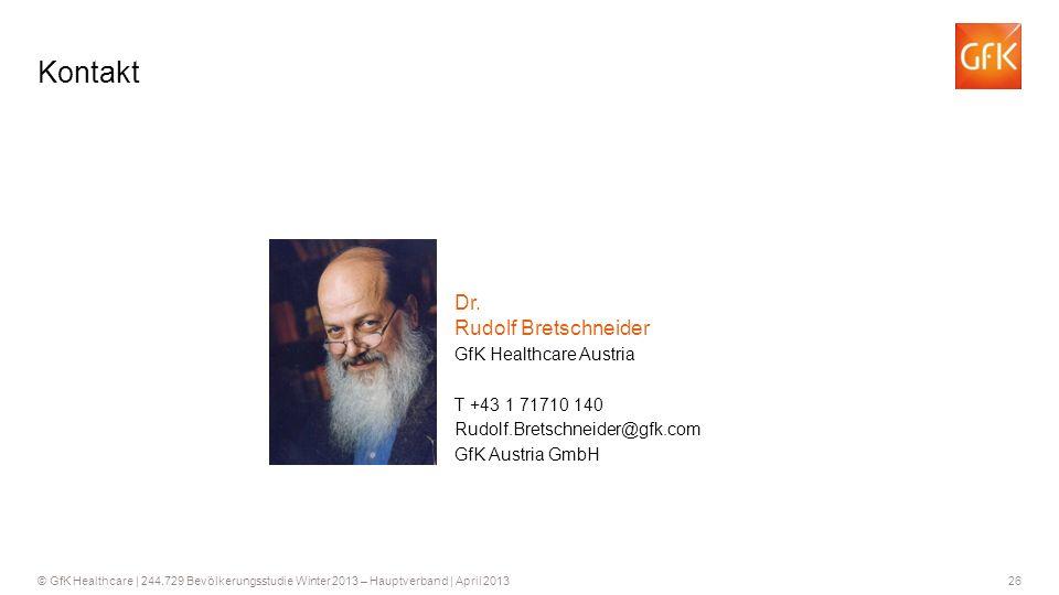 Kontakt Dr. Rudolf Bretschneider GfK Healthcare Austria