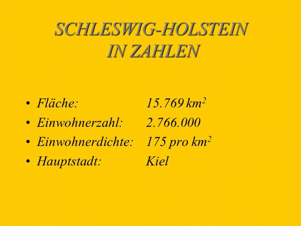 SCHLESWIG-HOLSTEIN IN ZAHLEN