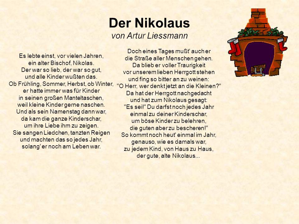 Der Nikolaus von Artur Liessmann
