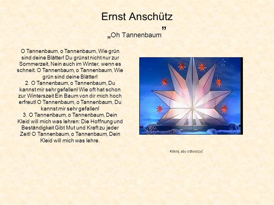 """Ernst Anschütz """"Oh Tannenbaum"""