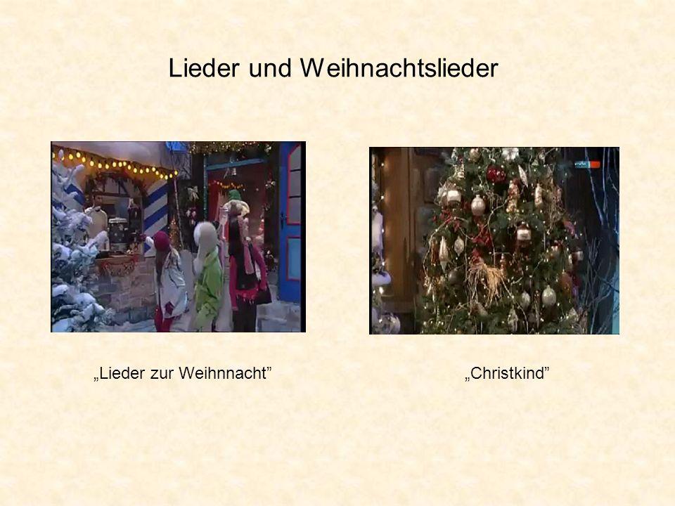 Lieder und Weihnachtslieder