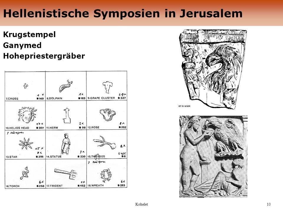 Hellenistische Symposien in Jerusalem