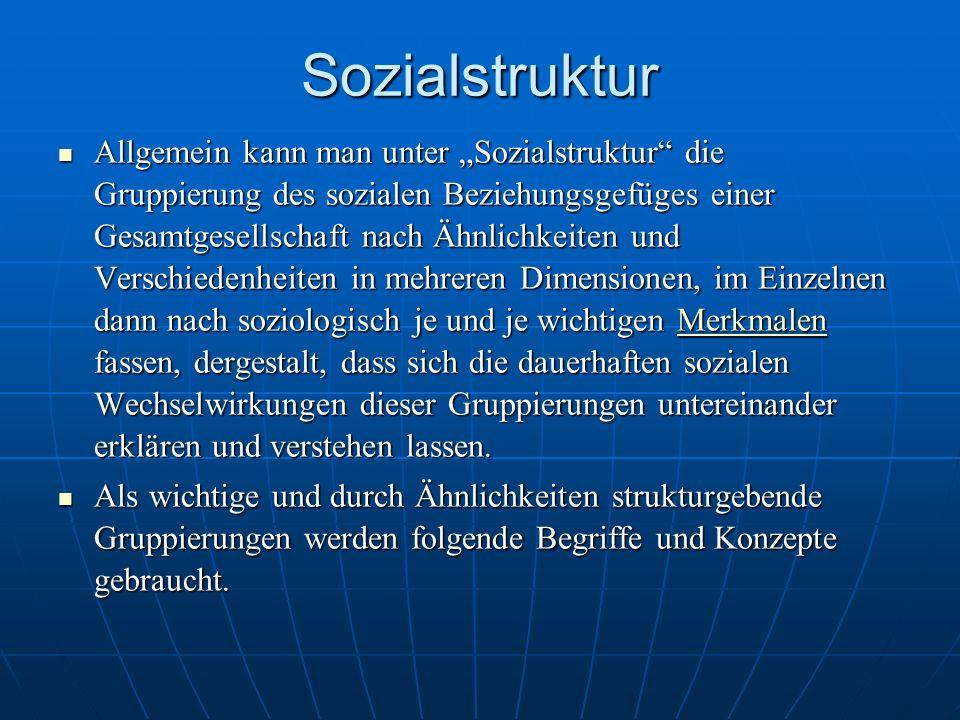 Sozialstruktur