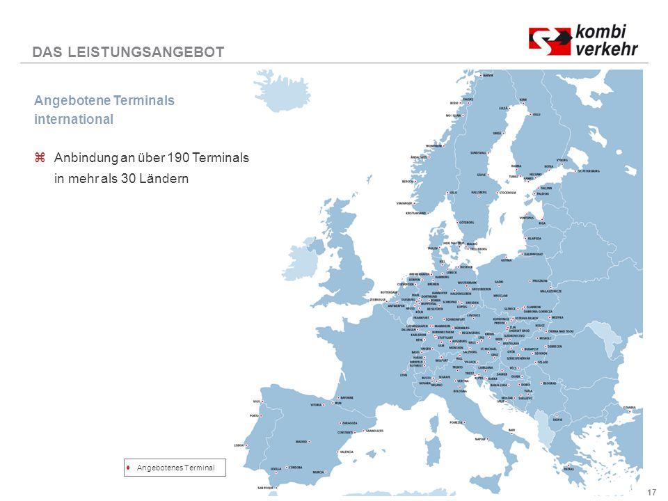 DAS LEISTUNGSANGEBOT Angebotene Terminals international