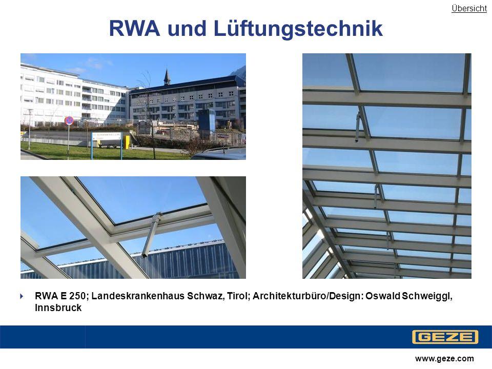 RWA und Lüftungstechnik