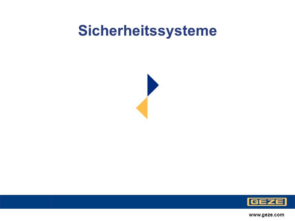 Sicherheitssysteme www.geze.com