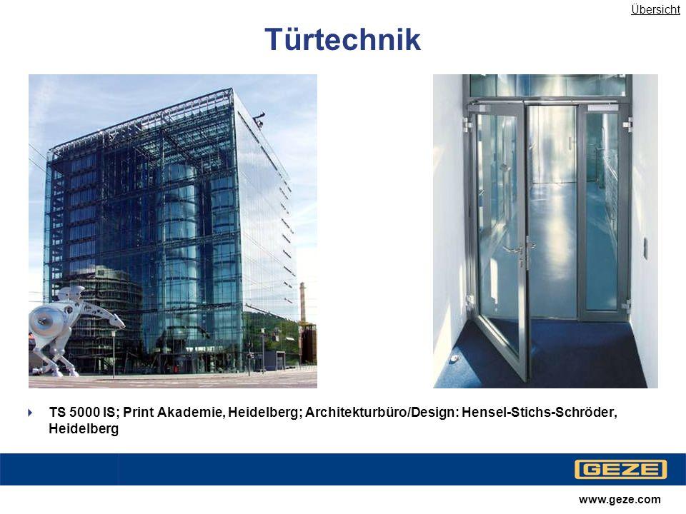Übersicht Türtechnik. TS 5000 IS; Print Akademie, Heidelberg; Architekturbüro/Design: Hensel-Stichs-Schröder, Heidelberg.