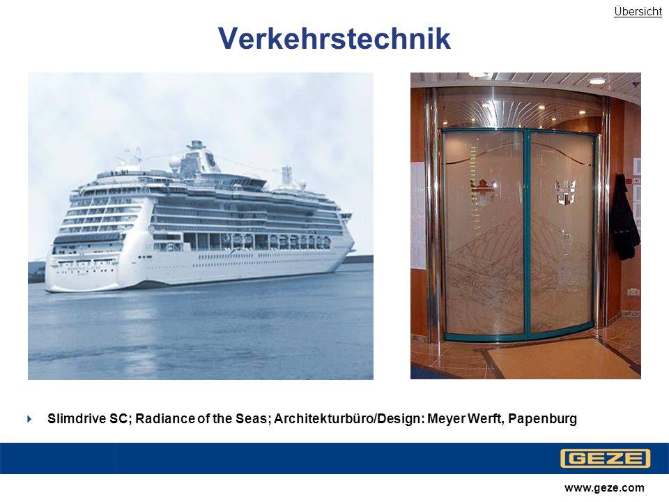 Übersicht Verkehrstechnik. Slimdrive SC; Radiance of the Seas; Architekturbüro/Design: Meyer Werft, Papenburg.