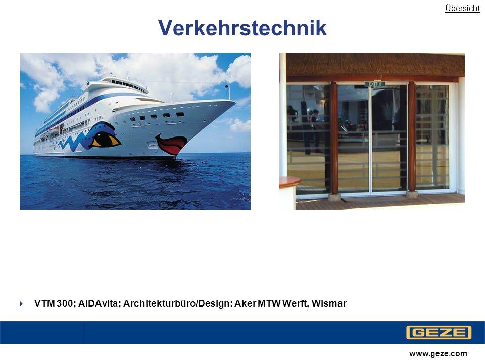 Übersicht Verkehrstechnik. VTM 300; AIDAvita; Architekturbüro/Design: Aker MTW Werft, Wismar.