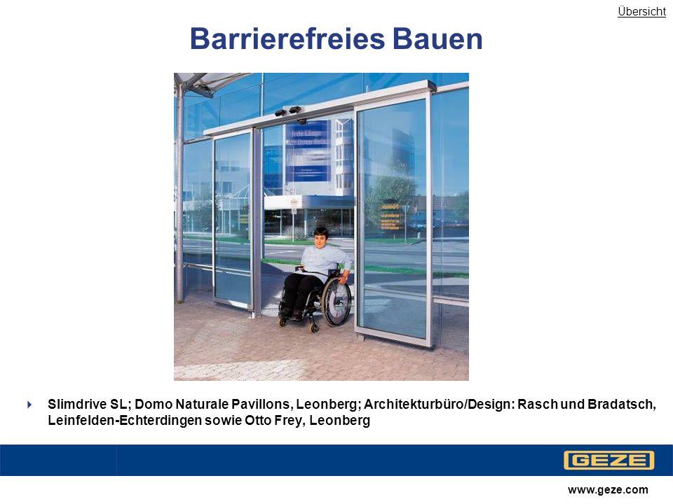 Übersicht Barrierefreies Bauen.