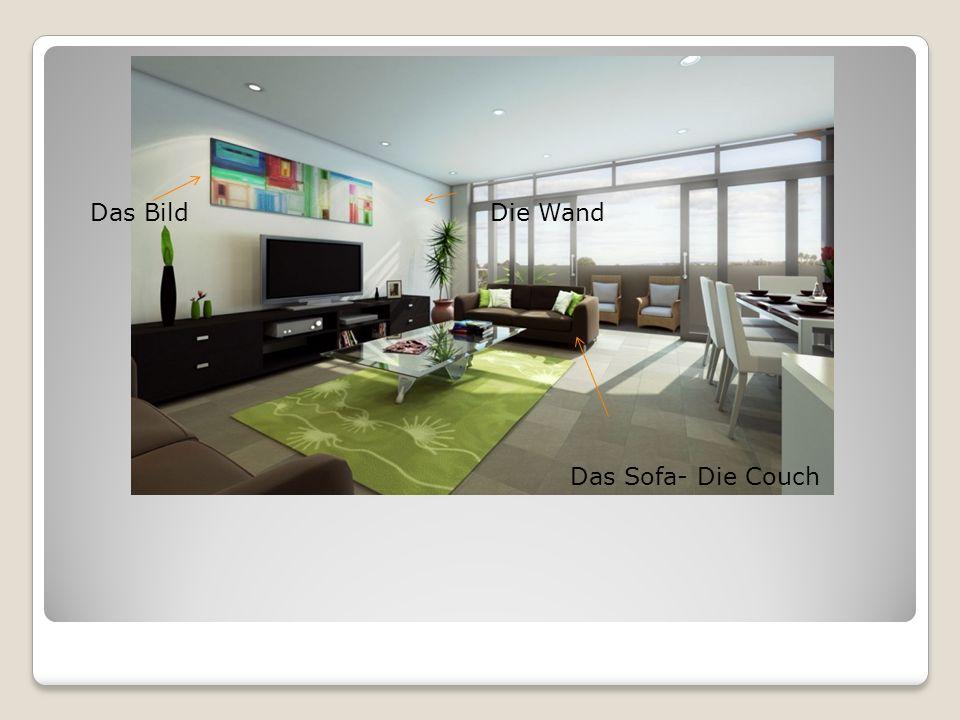 Das Bild Die Wand Das Sofa- Die Couch