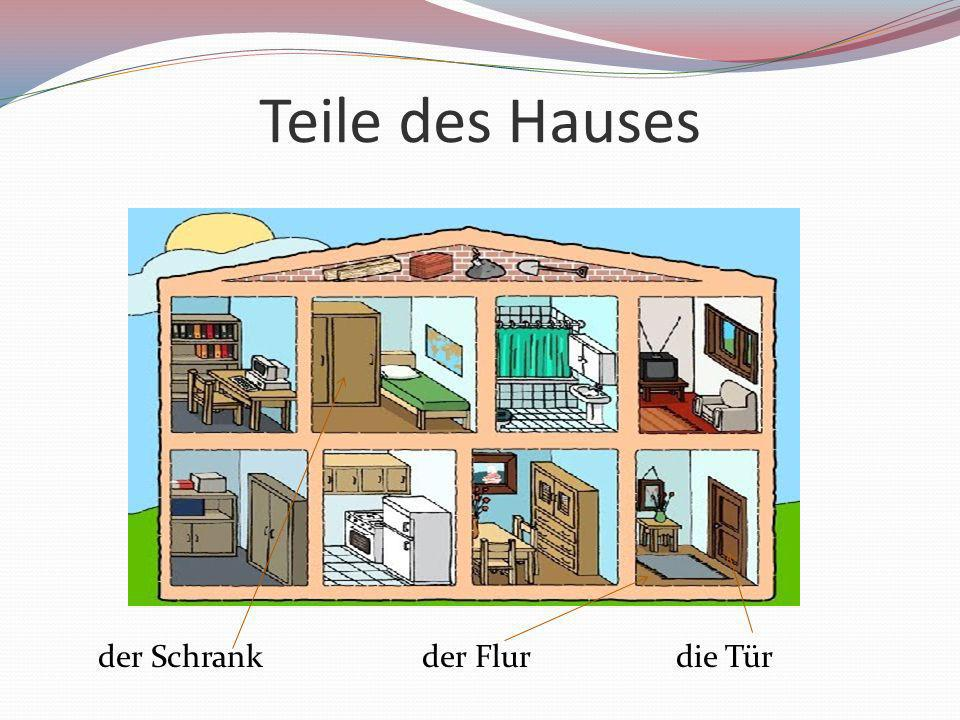 Teile des Hauses der Schrank der Flur die Tür