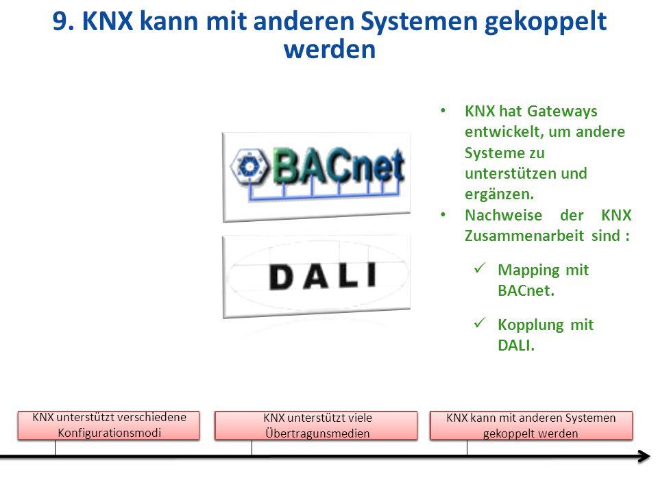 9. KNX kann mit anderen Systemen gekoppelt werden