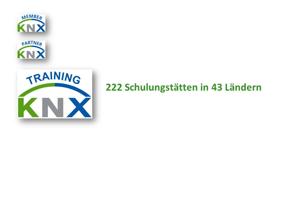 222 Schulungstätten in 43 Ländern