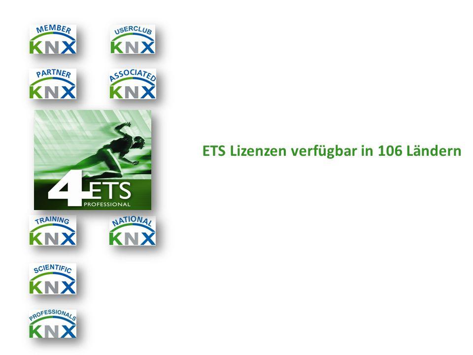 ETS Lizenzen verfügbar in 106 Ländern
