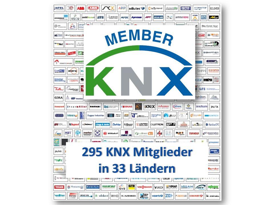 295 KNX Mitglieder in 33 Ländern