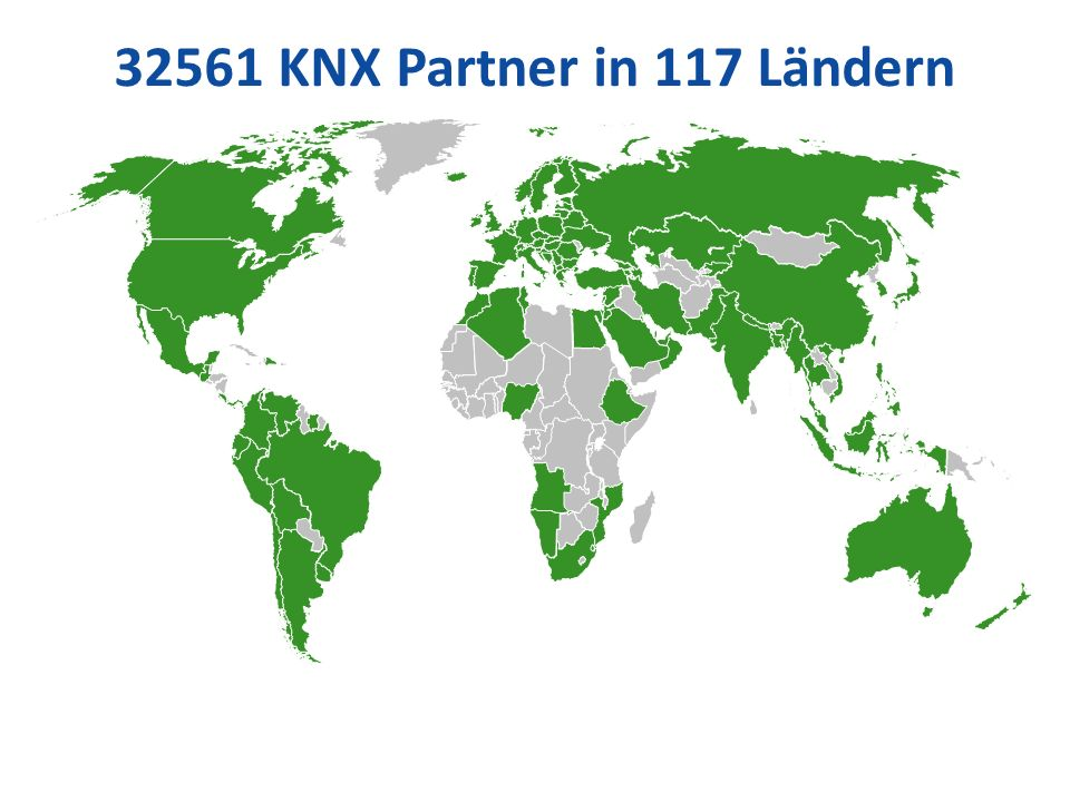 32561 KNX Partner in 117 Ländern