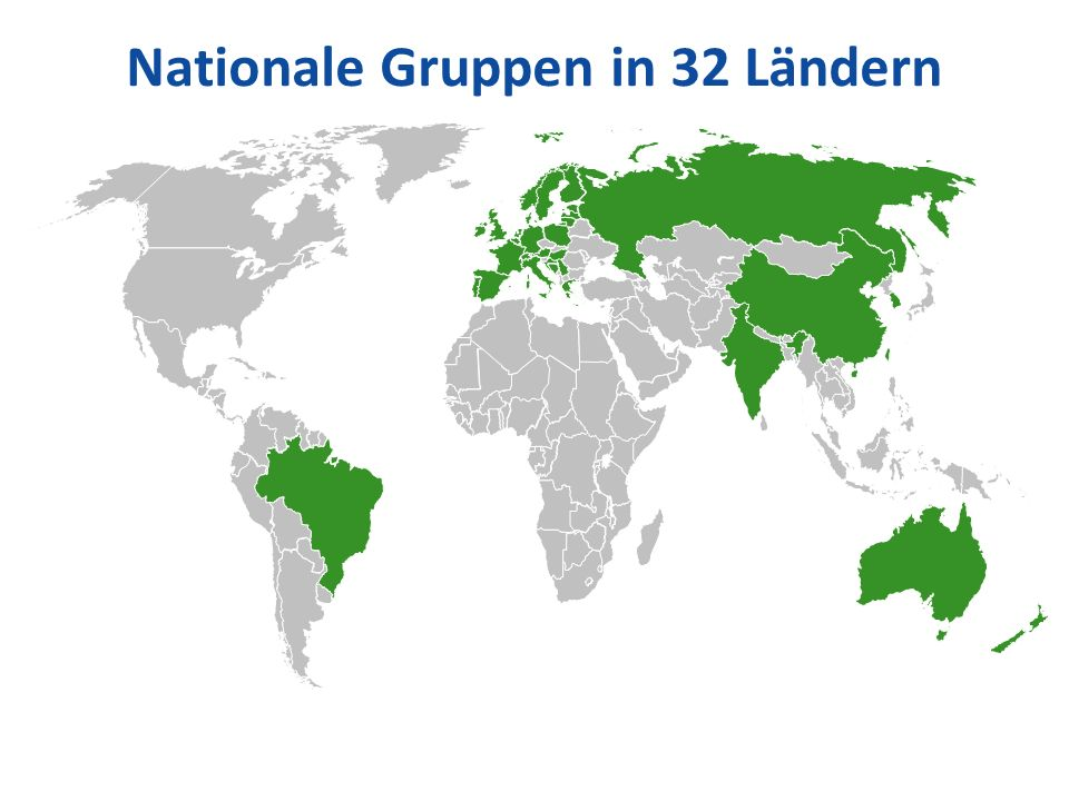Nationale Gruppen in 32 Ländern