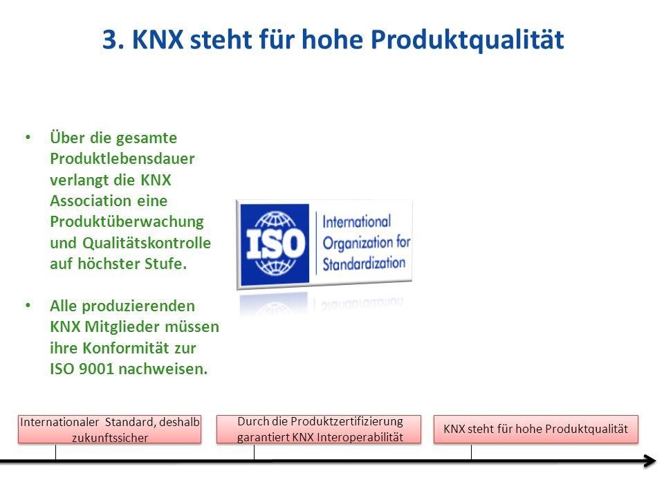 3. KNX steht für hohe Produktqualität
