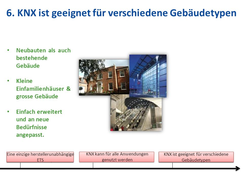 6. KNX ist geeignet für verschiedene Gebäudetypen