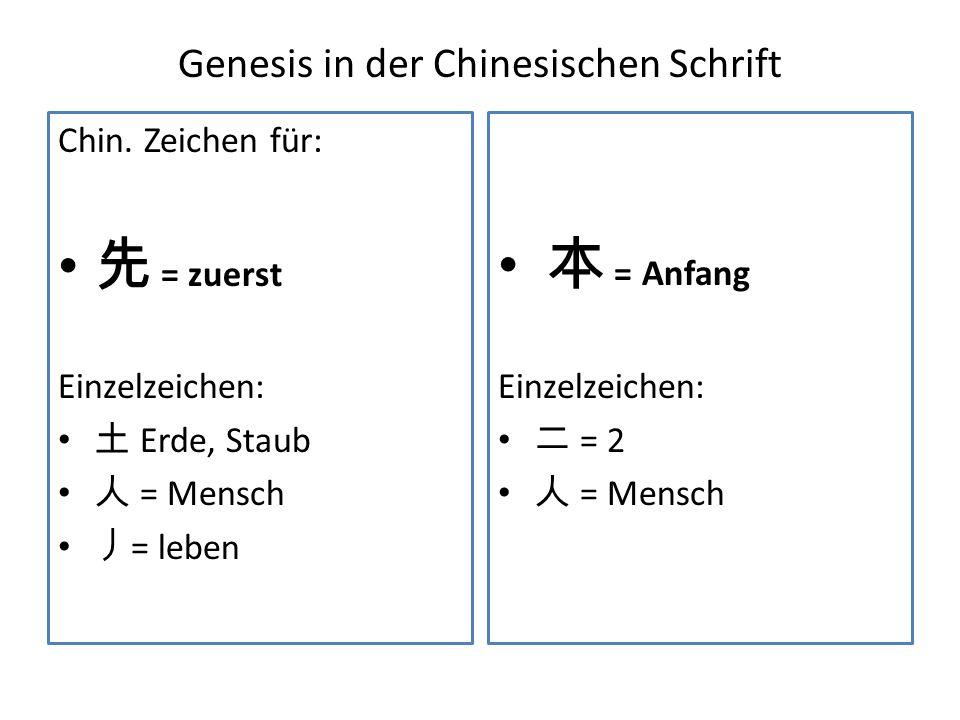 Genesis in der Chinesischen Schrift