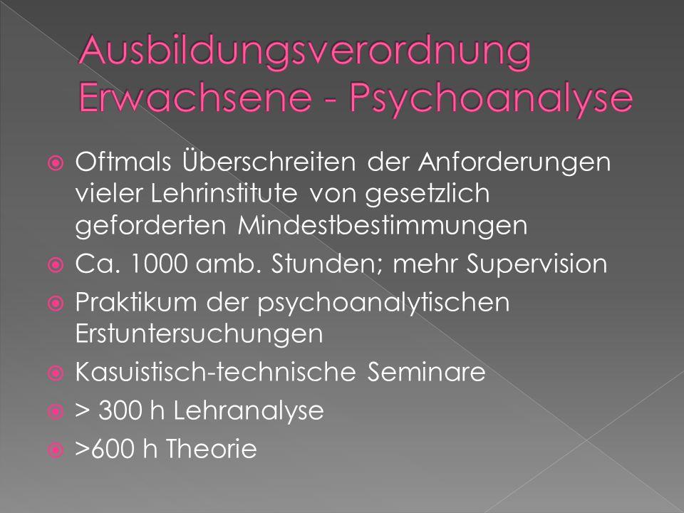 Ausbildungsverordnung Erwachsene - Psychoanalyse