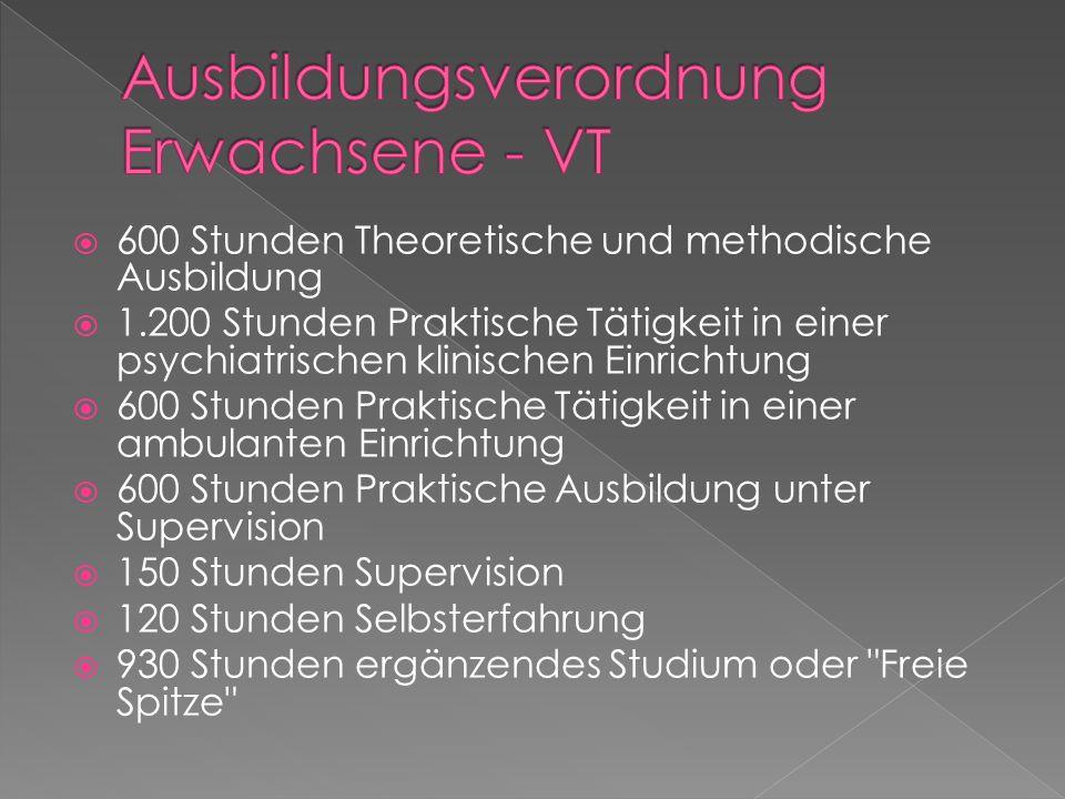 Ausbildungsverordnung Erwachsene - VT