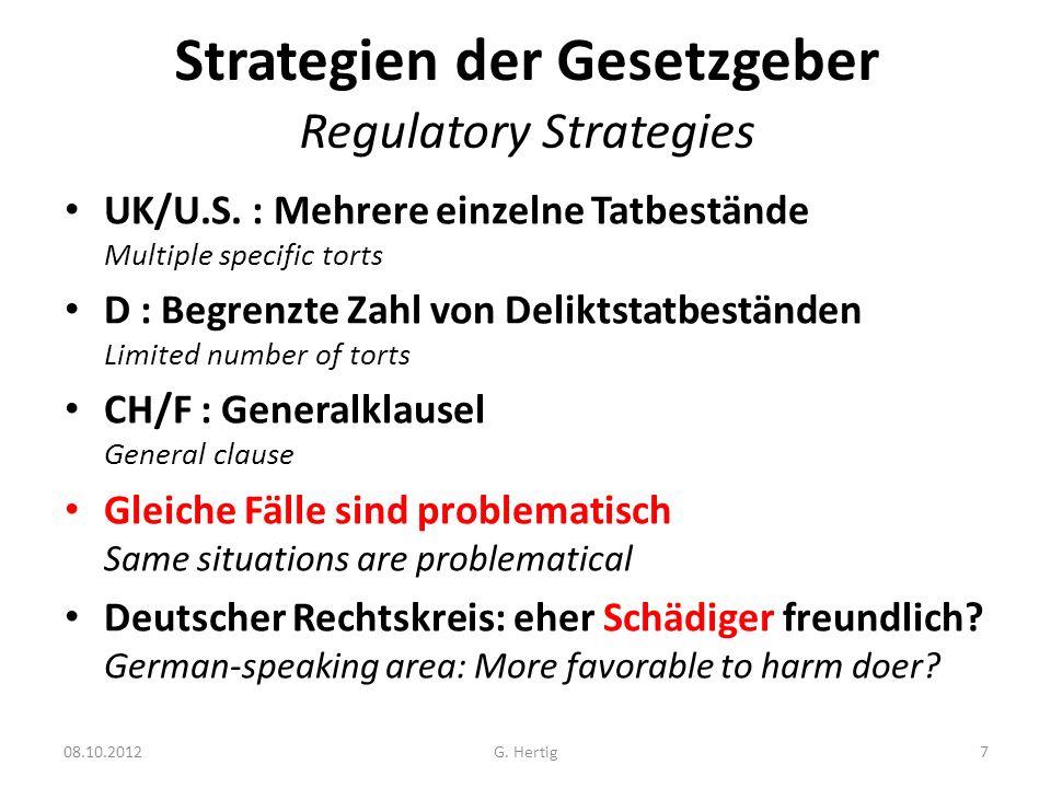 Strategien der Gesetzgeber Regulatory Strategies