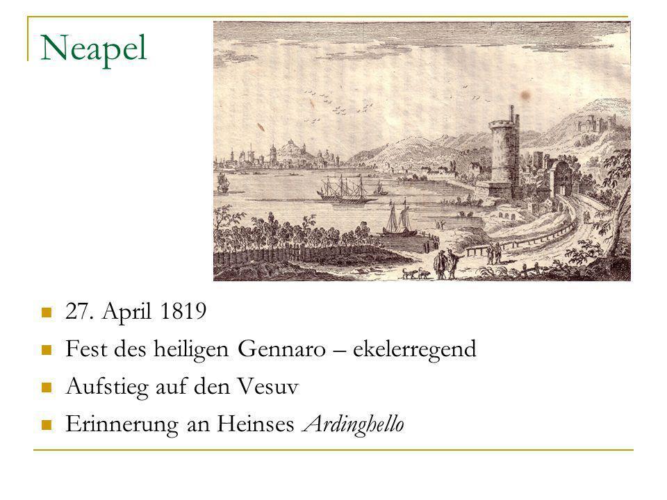 Neapel 27. April 1819 Fest des heiligen Gennaro – ekelerregend